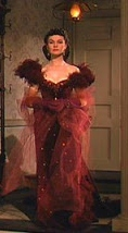 iconic red dress - vivienne leigh gone with the wind