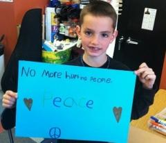 Martin Richards Peace Sign